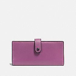 COACH 57197 Slim Trifold Wallet PRIMROSE/BLACK COPPER