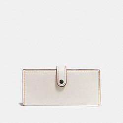 COACH 57197 Slim Trifold Wallet CHALK/BRASS