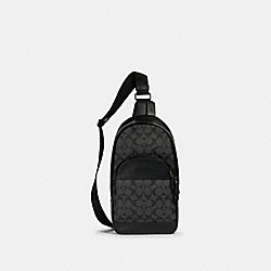 COACH 571 - HOUSTON PACK IN SIGNATURE CANVAS QB/CHARCOAL/BLACK