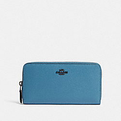 COACH 57713 - ACCORDION ZIP WALLET GM/BLUE