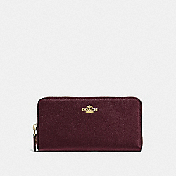 COACH 57713 - ACCORDION ZIP WALLET LI/OXBLOOD