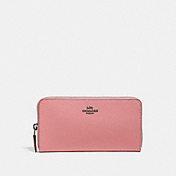 ACCORDION ZIP WALLET - 57713 - PEWTER/VINTAGE PINK