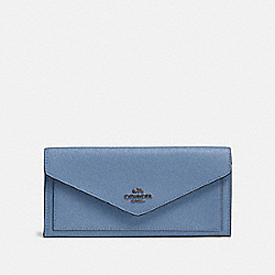 COACH 57715 - SOFT WALLET GM/STONE BLUE