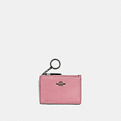 MINI SKINNY ID CASE - 57841 - GUNMETAL/TRUE PINK