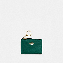 BOXED MINI SKINNY ID CASE - GD/BRIGHT JADE - COACH 57841B