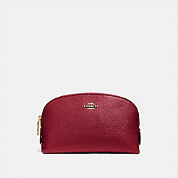 COACH 57844 - COSMETIC CASE 17 GOLD/DEEP RED