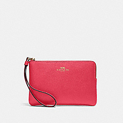 COACH 58032 Corner Zip Wristlet IM/ELECTRIC PINK