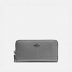 ACCORDION ZIP WALLET - 58059 - DK/HEATHER GREY