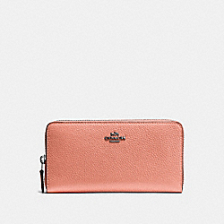 COACH 58059 - ACCORDION ZIP WALLET DK/MELON