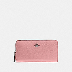 COACH 58059 Accordion Zip Wallet SV/LIGHT BLUSH