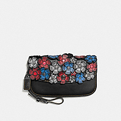 CLUTCH WITH TEA ROSE - 58181 - 1941 RED/BLACK COPPER