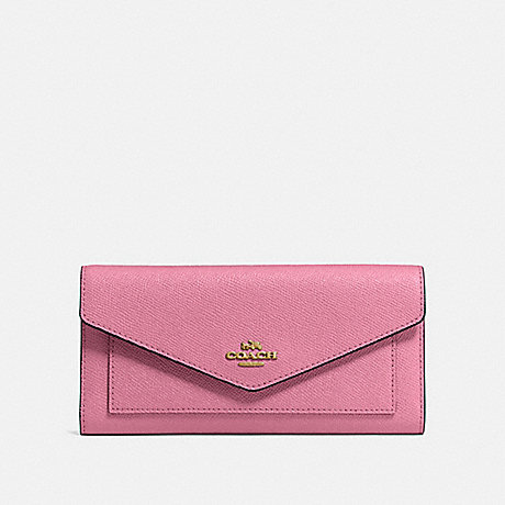 COACH TRIFOLD WALLET - B4/ROSE - 58299