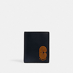 COACH 5837 North/south Slim Bill Wallet In Colorblock With Coach Patch QB/MIDNIGHT MULTI
