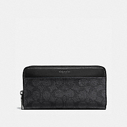 ACCORDION WALLET IN SIGNATURE CANVAS - 58426 - CHARCOAL