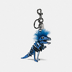 COACH 58499 Small Mohawk Rexy Bag Charm BK/DENIM CORNFLOWER