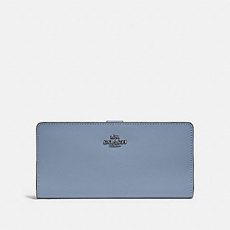 COACH 58586 SKINNY WALLET V5/BLUEBELL