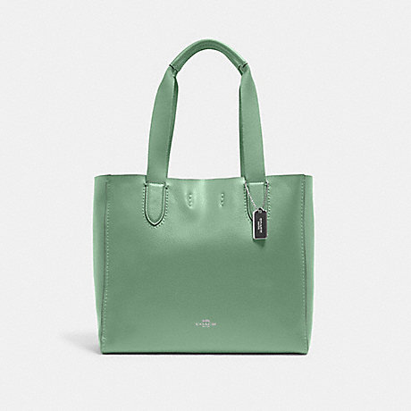 COACH 58660 DERBY TOTE SV/WASHED GREEN