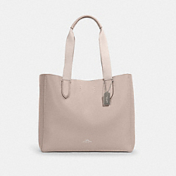 COACH 58660 Derby Tote SV/GREY BIRCH WINE
