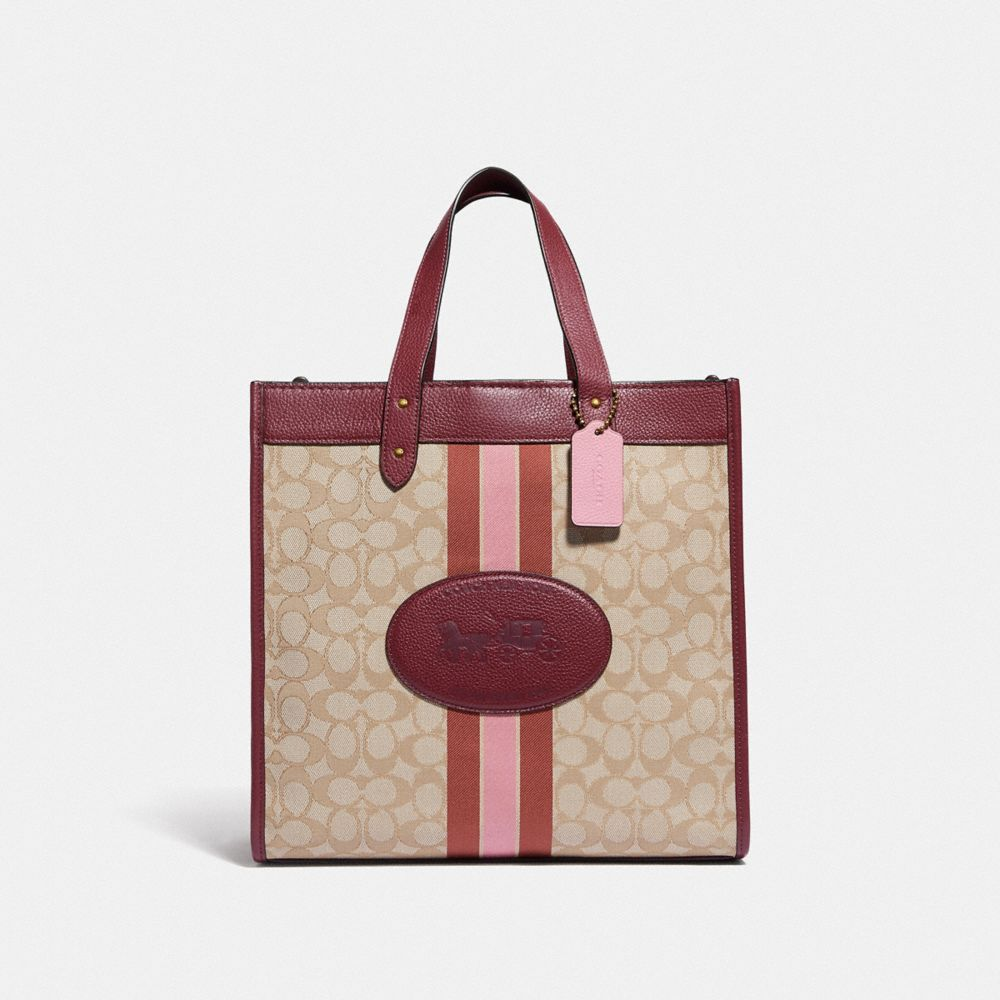 FIELD TOTE IN SIGNATURE JACQUARD WITH HORSE AND CARRIAGE