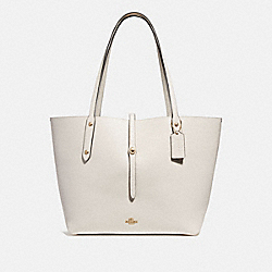 COACH 58849 - MARKET TOTE CHALK/LIGHT GOLD