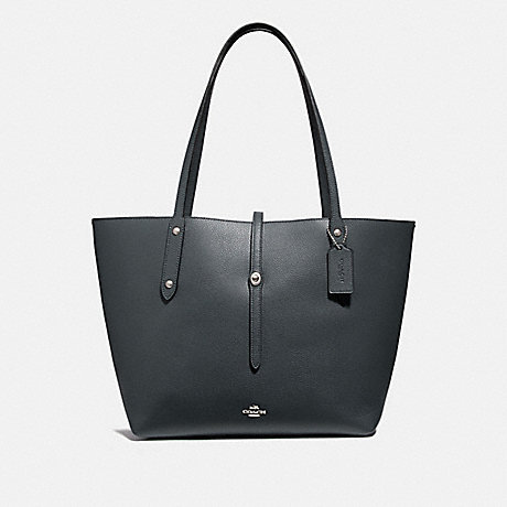 COACH 58849 MARKET TOTE MIDNIGHT-NAVY/SILVER