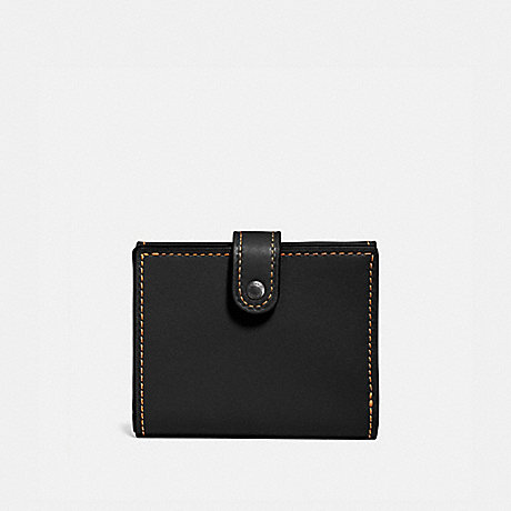 COACH 58851 SMALL TRIFOLD WALLET BLACK/BLACK COPPER