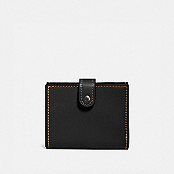 COACH 58851 - SMALL TRIFOLD WALLET BLACK/BLACK COPPER