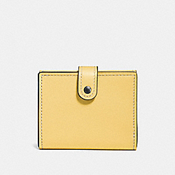 COACH 58851 - SMALL TRIFOLD WALLET BLACK COPPER/SUNFLOWER