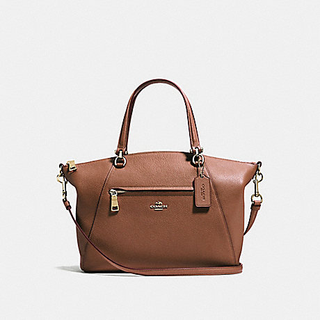 COACH 58874 PRAIRIE SATCHEL 1941-SADDLE/LIGHT-GOLD