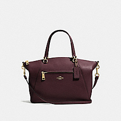 COACH 58874 - PRAIRIE SATCHEL OXBLOOD/LIGHT GOLD