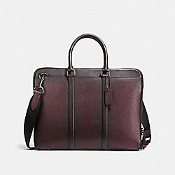 COACH 59430 Metropolitan Slim Brief QB/OXBLOOD