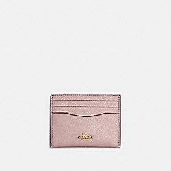 COACH 59462 - CARD CASE METALLIC BLUE/GOLD