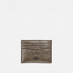 COACH 59462 Card Case PLATINUM/GUNMETAL