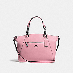 COACH 59501 - CHAIN PRAIRIE SATCHEL DUSTY ROSE/DARK GUNMETAL