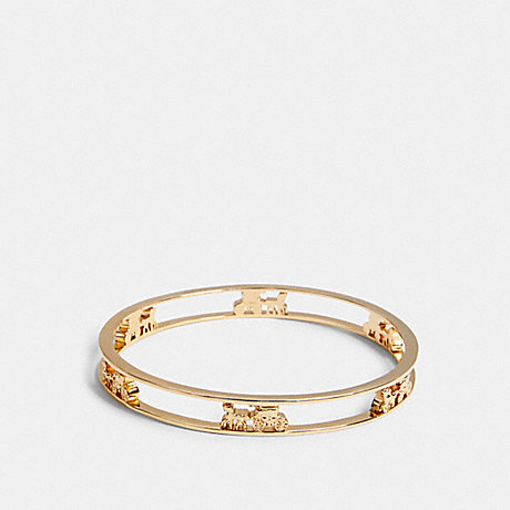 COACH HORSE AND CARRIAGE BANGLE - GOLD - 5964
