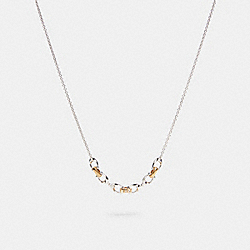 LINKED SIGNATURE NECKLACE - SILVER/GOLD - COACH 5974