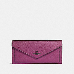 COACH 59970 Soft Wallet GM/METALLIC BERRY