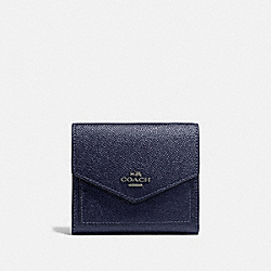 COACH 59972 - SMALL WALLET GM/METALLIC MIDNIGHT NAVY