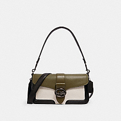 GEORGIE SHOULDER BAG IN COLORBLOCK - 6019 - QB/KELP MUTLI
