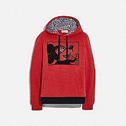 DISNEY MICKEY MOUSE X KEITH HARING HOODIE - 6045 - RED
