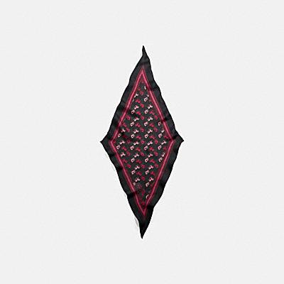 *ホース アンド キャリッジ プリント シルク ダイヤモンド スカーフ