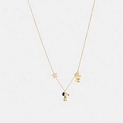 COACH 6126 - COACH X PEANUTS SNOOPY AND WOODSTOCK LONG NECKLACE GD/MULTICOLOR