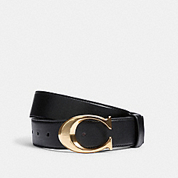 SIGNATURE BUCKLE BELT, 38MM - 6138 - IM/BLACK