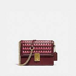 HUTTON SHOULDER BAG WITH WEAVING - 613 - B4/WINE MULTI