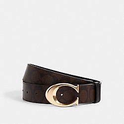 SIGNATURE BUCKLE BELT, 38MM - 6140 - IM/CHESTNUT BLACK