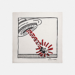 DISNEY MICKEY MOUSE X KEITH HARING SILK BANDANA - 6147 - CHALK