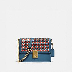 COACH 614 Hutton Shoulder Bag With Weaving B4/LAKE MULTI
