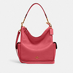 PENNIE SHOULDER BAG - IM/FUCHSIA - COACH 6152