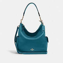 PENNIE SHOULDER BAG - IM/TEAL INK - COACH 6152