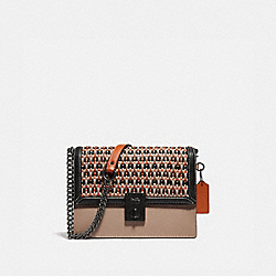COACH 615 Hutton Shoulder Bag With Weaving V5/TAUPE MULTI